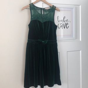 Altar'd State Forest Green Holiday Dress